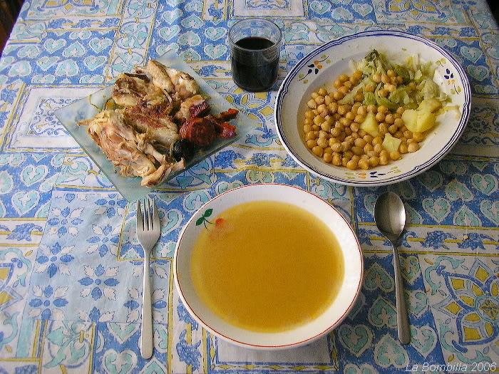 Cocido madrileño, casero, casero