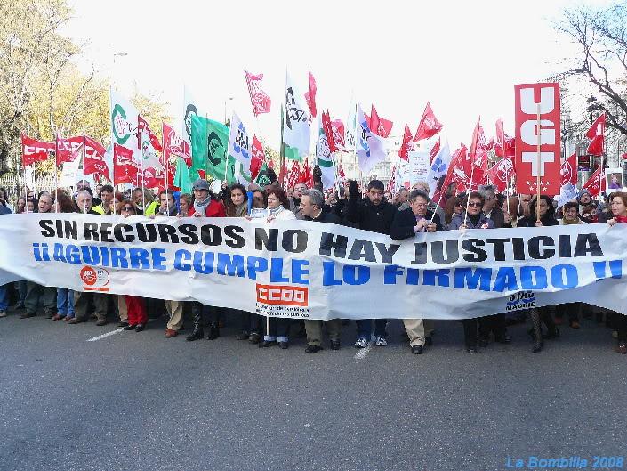 Funcionarios de Justicia de Madrid en huelga por sus derechos